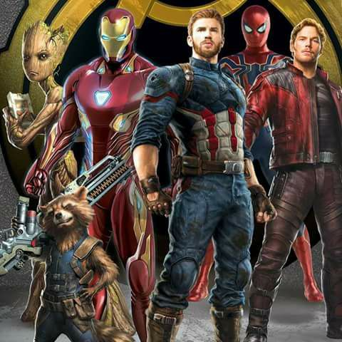 The Avengers, the Guardians and Spider-Man team-up for Avengers: Infinity War promo art