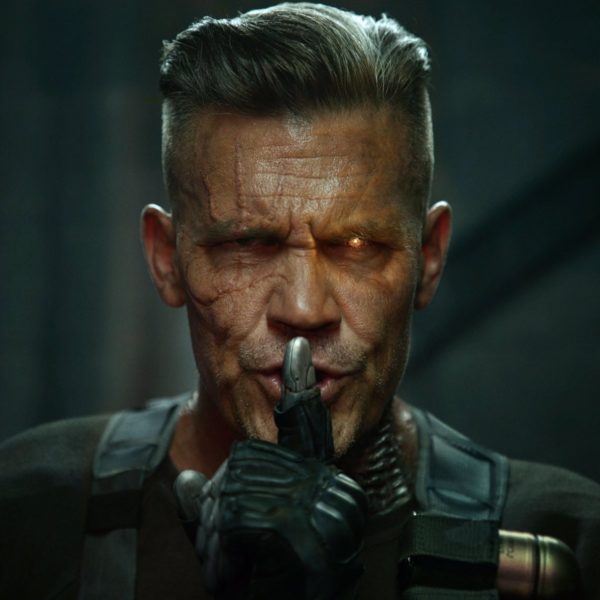 Josh Brolin hangs out with a mini-Wade on Deadpool 2 set