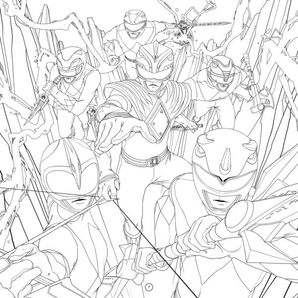 Mighty Morphin Power Rangers Gets The Adult Coloring Book