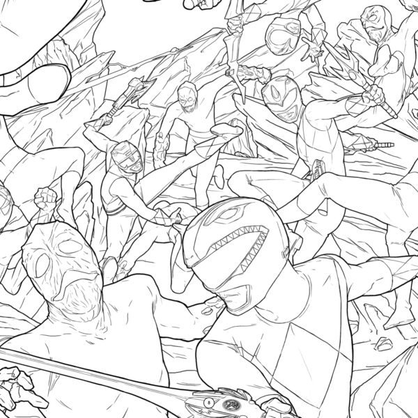 Mighty Morphin Power Rangers gets the Adult Coloring Book treatment