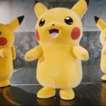 A troupe of Pikachus enter a dance off to celebrate Pokemon: Sun & Moon – Burning Shadows