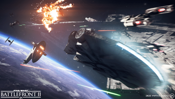 Star Wars Battlefront II unveils 10 minutes of Starfighter warfare