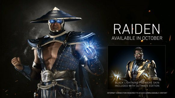 Injustice 2 DLC character 'Raiden' trailer