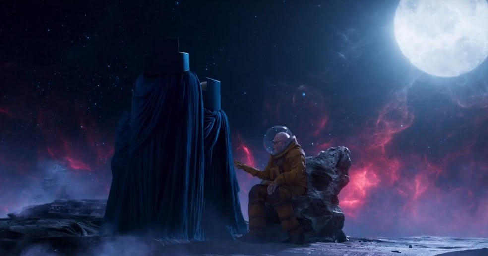 Stan Lee meets a pre-CGI Watcher in Guardians of the ...