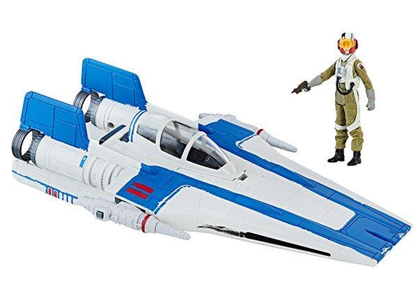 STAR-WARS-THE-LAST-JEDI-CLASS-B-VEHICLE-Assortment-Resistance-A-Wing-Fighter-Resistance-Pilot-Tallie-600x417