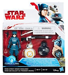 Star-Wars-Force-Link-Figure-Pack-Rose-First-Order-Disguise-BB-8-BB-9E-in-pkg-270x300