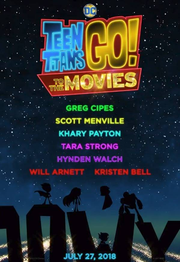 teaser poster and casting details for teen titans go to