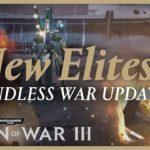 Endless War update arrives for Dawn of War III tomorrow