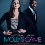 New poster for Molly's Game featuring Jessica Chastain and Idris Elba