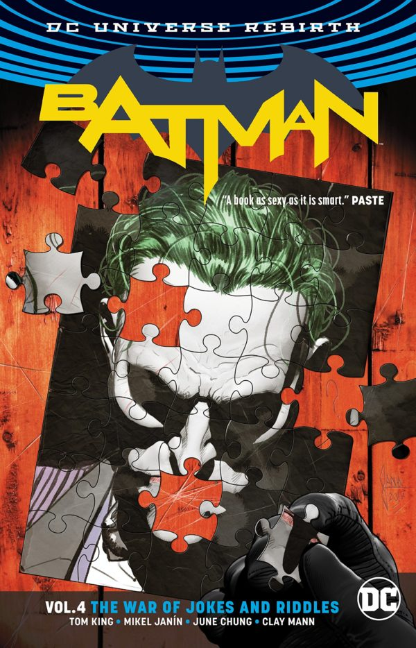 Comic Book Review - Batman Vol  4: The War of Jokes and Riddles