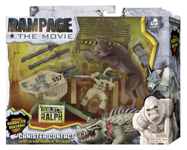 Rampage Tie In Toys Feature George Ralph And Lizzie