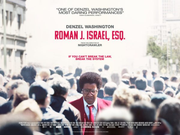 New UK poster for Roman J. Israel, Esq.