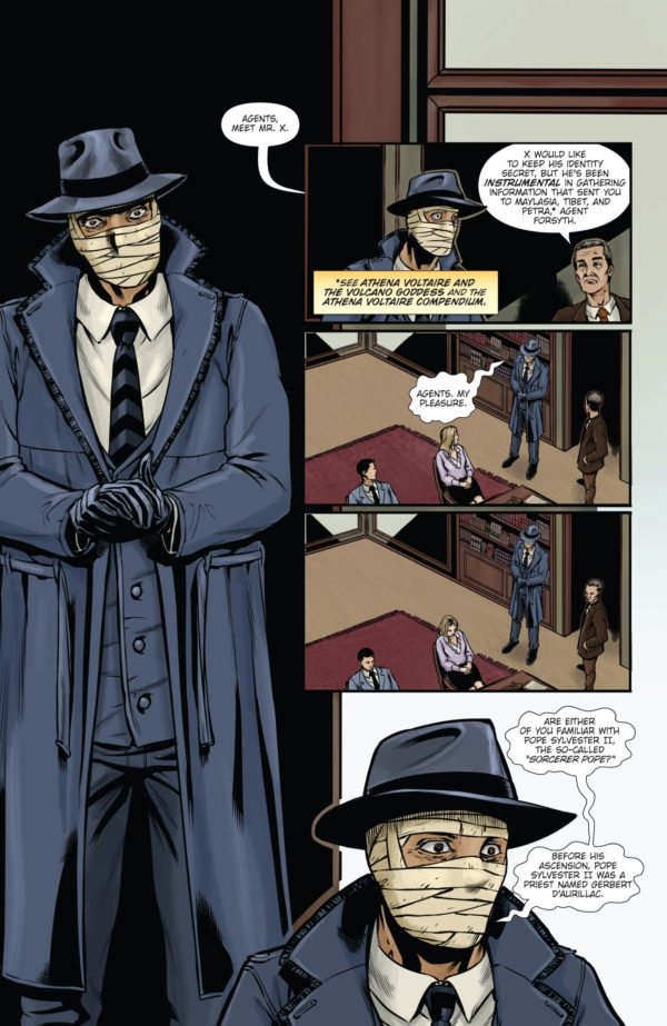 voltaire and pope Coming this wednesday, february 14th is the debut issue of athena voltaire and the sorcerer pope writer steve bryant has returned with everyone's favorite pulp heroine and she's up against the nazis in search of a treasured artifact from pope sylvester ii no problem for our adventuress.