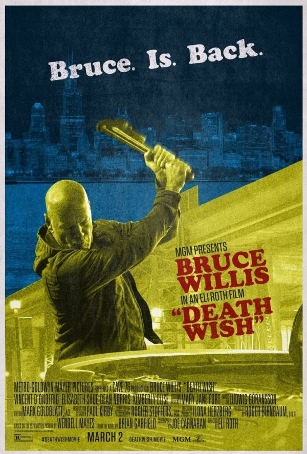 Bruce is Back in two new grindhouse-style posters for Death Wish