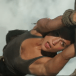 Lara Croft makes a daring escape in Tomb Raider clip