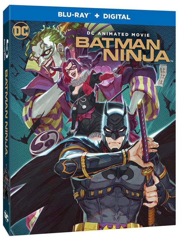 batman ninja blu ray cover art and special features revealed