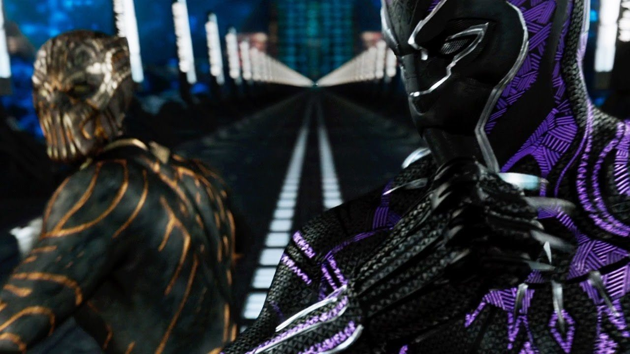 T Challa Battles Killmonger In New Clip From Marvel S Black Panther