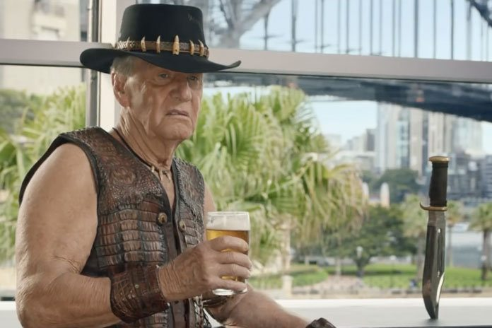 paul hogan cameos in the full super bowl tv spot for