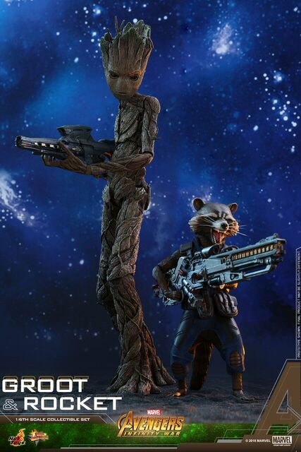 Avengers-Infinity-War-Rocket-and-Groot-Hot-Toys-collectible-set-2