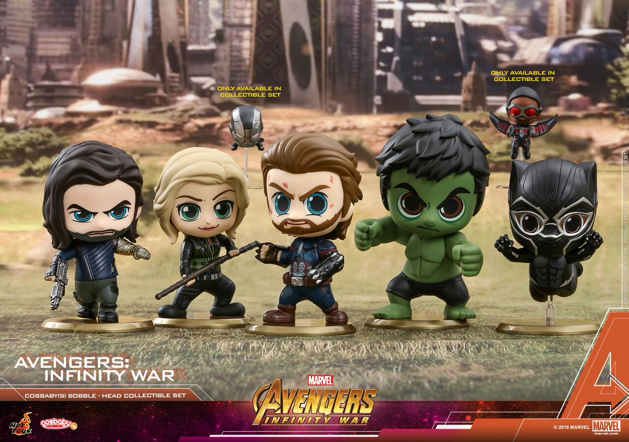 hot toys unveils its avengers infinity war cosbaby