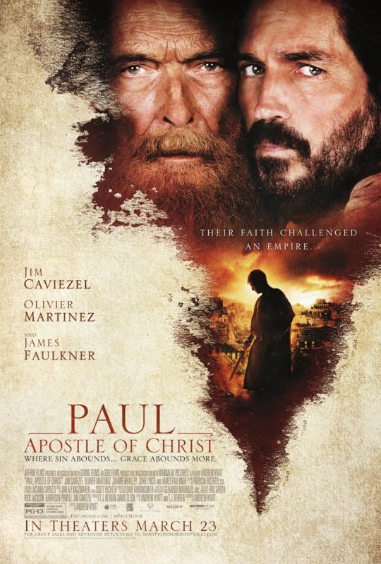 Trailer, poster and images for biblical drama Paul, Apostle of