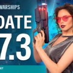 Update 0.7.3 for World of Warships boldly takes us into space