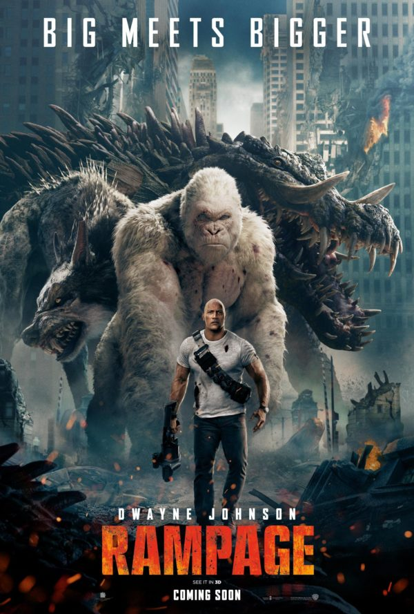 George Ralph And Lizzie Join The Rock On New Rampage Poster