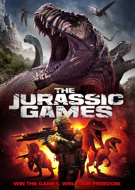 get ready for the jurassic games with trailer poster and
