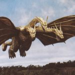 Rampage's Jason Liles portraying King Ghidorah in Godzilla: King of the Monsters