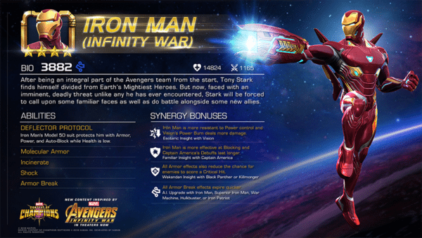 Avengers: Infinity War's Iron Man comes to Marvel Contest of