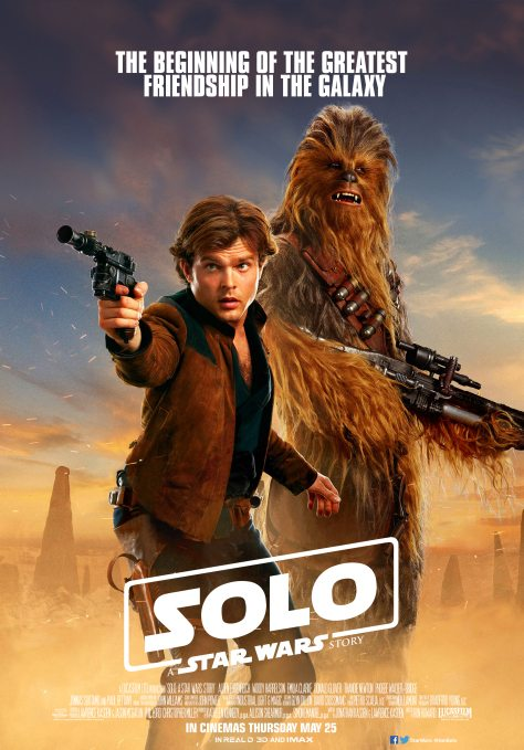 Image result for Han Solo movie han and chewie poster