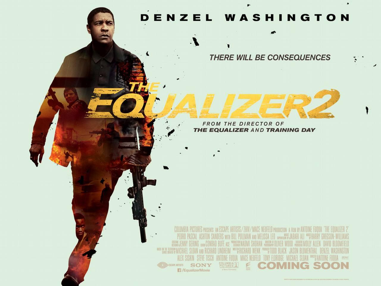 New UK poster for The Equalizer 2 starring Denzel Washington
