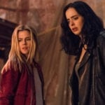 Krysten Ritter directs Rachael Taylor in Jessica Jones season 3 set photos