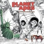 Check out a preview of the Planet of the Apes Adult Coloring Book