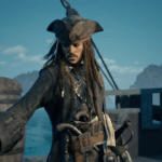 Kingdom Hearts III character images for Pirates of the Caribbean and Frozen worlds