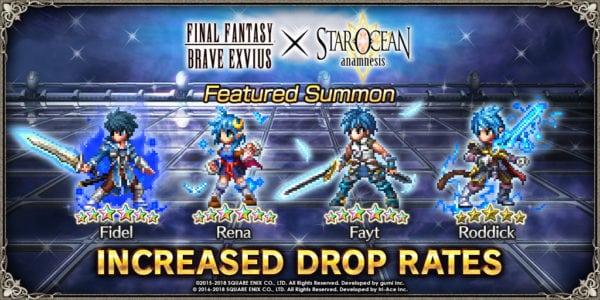 Final Fantasy Brave Exvius andStar Ocean: Anamnesis