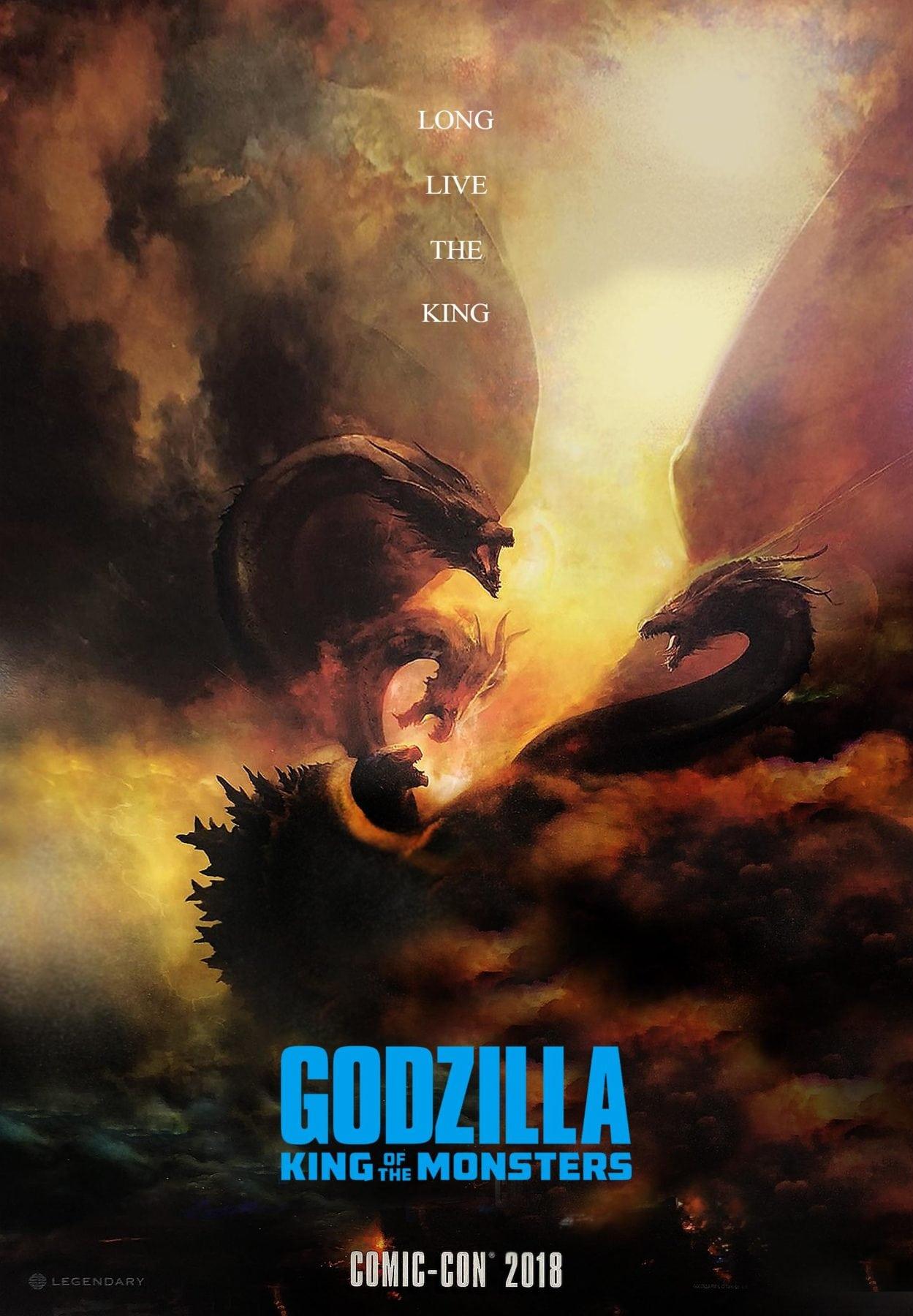 Godzilla King Of The Monsters Poster Godzilla battle...