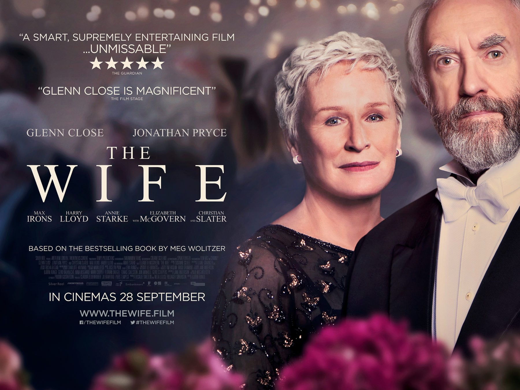 new poster and trailer for the wife starring glenn close