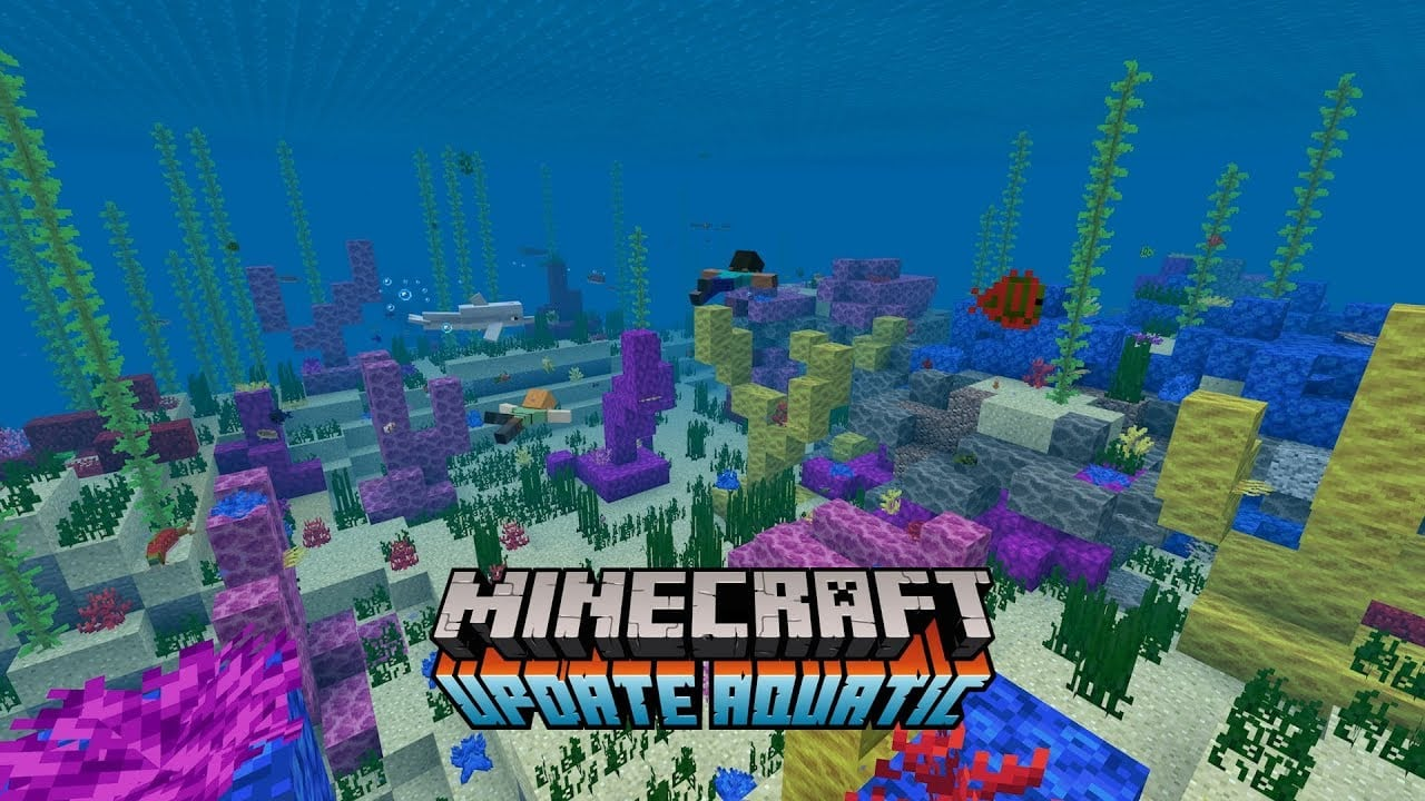Minecraft Update Aquatic brings more reasons to explore the briny
