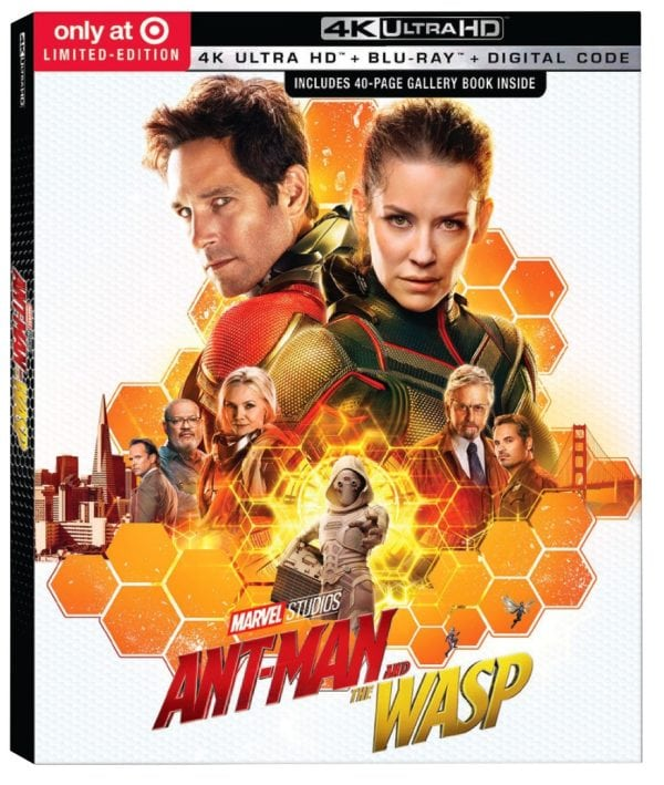 Marvel's Ant-Man and the Wasp 4K Blu-ray and Steelbook cover