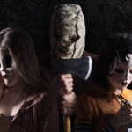 Dollface terrorises Christina Hendricks and Bailee Madison in The Strangers: Prey at Night UK exclusive clip