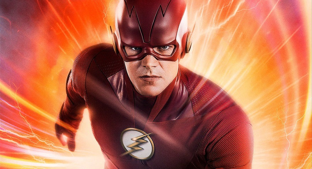 The flash season 5 poster showcases barry allen 39 s new suit flickering myth - Flash le super heros ...