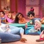 Ralph Breaks the Internet image features a Disney Princess slumber party