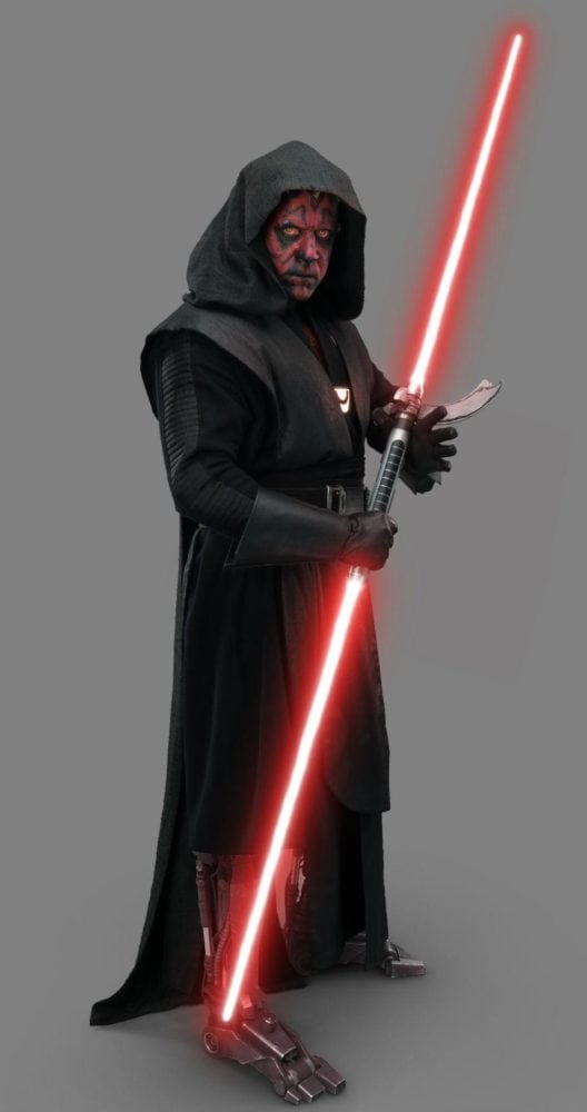 New promo images of Darth Maul and his robot legs from Solo