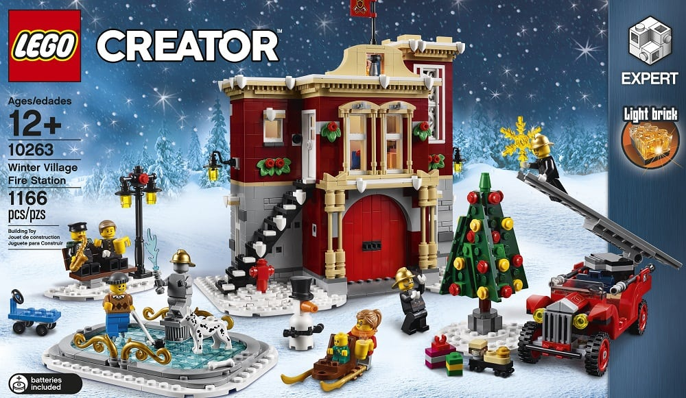 Mini Cars For Sale >> LEGO unveils the Creator Winter Village Fire Station set ...