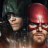 Stephen Amell and Grant Gustin swap superheroes in 'Elseworlds' crossover set photos