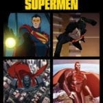Reign of the Supermen poster features Eradicator, Superboy, Steel and Cyborg Superman