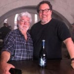George Lucas visits Jon Favreau on the set of Star Wars series The Mandalorian