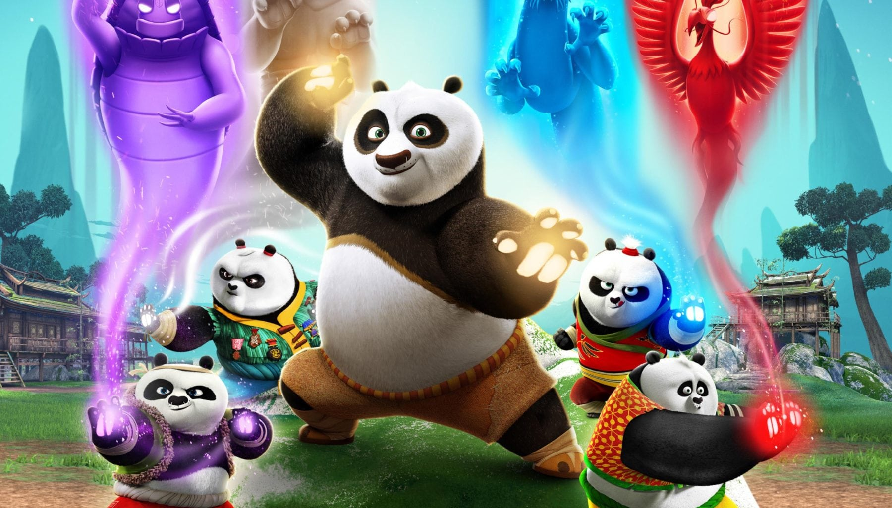 animated series kung fu panda: the paws of destiny gets a poster and