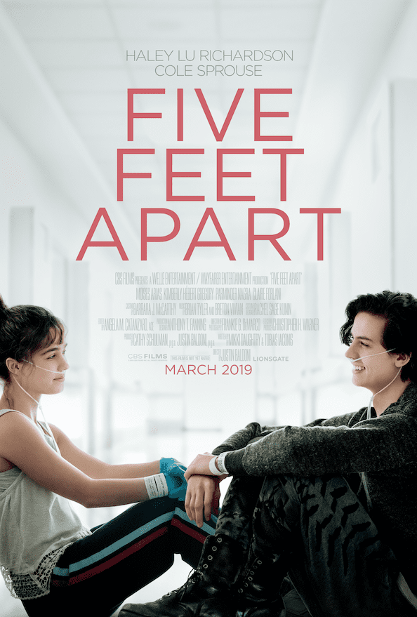 First trailer for Five Feet Apart starring Cole Sprouse and Haley Lu Richardson